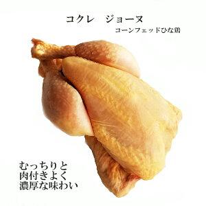 チキン フランス産ひな鳥 「コクレ」「プーサン」ジョーヌ 頭無 中抜き 約450g (冷凍)ローストチキン 唐揚げ 二人のデイナーに パーティに