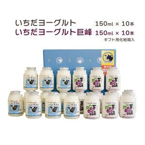 地元牛乳使用、信州市田酪農 いちだヨーグルト(のむヨーグルト プレーン10本 & 巨峰10本)【A12-2】