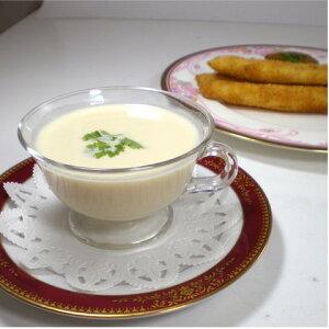 ホワイトアスパラのスープ