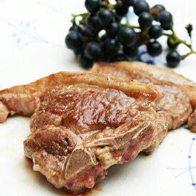 仔羊 熟成ラムのTボーンステーキ 70-130g2枚入り ラム肉 ひれ肉、ロース肉が同時に味わえる♪