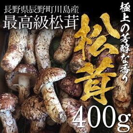 【終了間近】松茸 まつたけ 国産 開き(ひらき)400g 4〜10本 マツタケ 長野 産地直送 冷蔵 送料無料