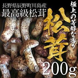 【終了間近】松茸 まつたけ 国産 開き(ひらき)200g 2〜5本 マツタケ 長野 産地直送 冷蔵 送料無料