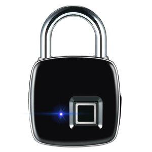 指紋ロック タッチロック スマートロック スマート南京錠 指紋認証 複数指紋登録可能 USB充電 防犯グッズ 盗難防止 自転車 ジム オフィスに適用