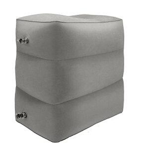 フットレスト 飛行機 車 エアーオットマン 足置き 足枕 旅行用便利グッズ フットレストエコノミー症候群対策 椅子 ベッドとしても使用可能 ボンプ不要
