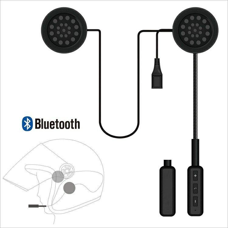 バイク用 ブルートゥースヘッドセット ワイヤレスヘルメットヘッドフォン通信システムスピーカーハンズフリー バイク スキー 音楽コールコントロール