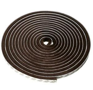 隙間テープ 窓 ドア 隙間風防止 断熱 防風 防音 防水 毛足 長さ5m 幅9mm、毛足9mm