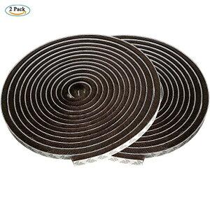 【2点入り】隙間テープ 水に強く 丈夫 防音 防風 防水 毛足(幅9mm×毛の高さ9mm×長さ5m)