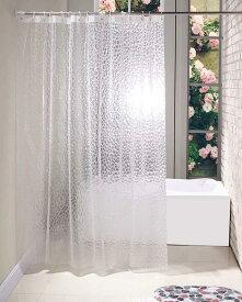 シャワーカーテン透明 ビニール 防カビ 防水 間仕切り 浴室 お風呂 洗面所 120cm×180cm EVA製