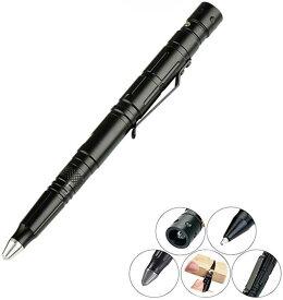 高品質 4in1タクティカルペン LEDライト付き 超小型懐中電灯 多機能 ボールペン ガラスブレイカー