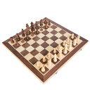 チェスセット 国際チェス 木製 マグネット式 折りたたみチェスボード 収納便利