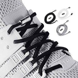 結ばない靴紐 結ば ない くつひも 伸びる 3色 6足分の靴ひも靴ひも ブラック、ホワイト、グレー