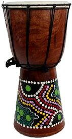 4インチ ミニジャンベ アフリカン楽器 民族楽器 ハンドドラム パーカッション 打楽器 子供 練習ため 室内装飾 インテリア 楽器 置物