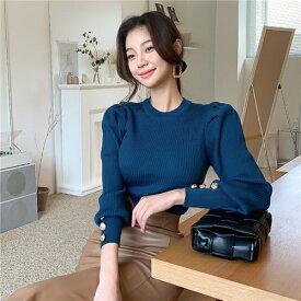 レディース ニットトップス ニットカーディガン ブラウス シャツ 長袖ブラウス セーター 長袖 ゆったり 体型カバー 無地 シンプル おしゃれ 大人 かわいい 柔らかい ふわふわ もちもち オフィス カジュアル 韓国ファッション 韓国ファッション 秋冬
