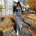 ロングワンピース タイトワンピース 姫系ワンピース ドレスワンピース マキシワンピース ロング丈 膝下丈 オシャレ エレガント 大人セクシー スリム 大人可愛い 大きいサイズ 二次会 結婚式 お呼ばれ 秋冬 韓国ファッション