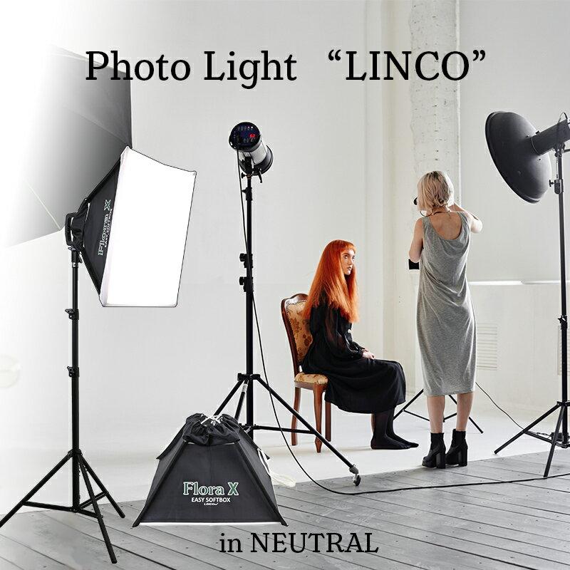 撮影 照明 ライト 組立簡単 4灯スタジオ撮影ライト 照明セット キット LED 商品撮影 米国Linco FloraX & Zenith(ゼニス) ライトスタンド