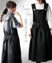 【再入荷♪5月10日22時より】ジャンパースカート。ロング丈。ブラック。前後リボンで結べる。 4/5 22時販売新作×メー…