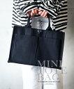 【再入荷♪12月11日20時より】トートバッグ。ミニバッグ。ハンドバッグ。キャンバス。ブラック。シンプルに1番使える…
