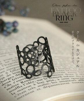 リング。指輪。ブラック。クール。クールdeカジュアル手元にプラスするだけで。7/320時販売新作〇メール便可