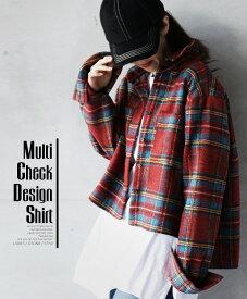 【再入荷♪11月15日20時より】チェック柄。シャツ。レッド。Multi Check Design Shirt1/26×メール便不可