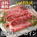 ギフト 熟成肉 エイジングビーフ 送料無料 最高級の黒毛和牛サーロイン 3枚/熟成 和牛 牛肉