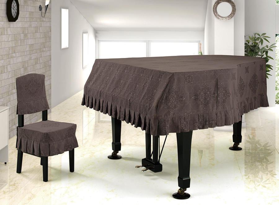 プ★ジャガードタイプ グランドピアノカバー G−DBR ダークブラウン