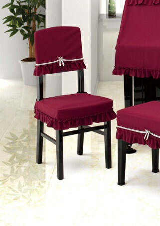 ★ピアノ椅子カバー ニット OB-CK E エンジ 背もたれ椅子カバー
