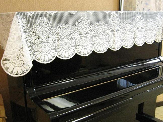 ◎ピアノ レース トップ カバー L−DGL 吉澤 お手軽なピアノカバー