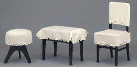 ♪ピアノレース 椅子カバー CB-2L(新高低タイプ:画像中央):ベージュ