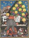 セール!カスパリ社 XDクリスマスカード ピアノキャット XD68319 Caspari 300→240円に