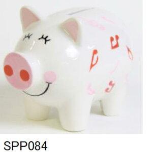 ぶたブタ豚の貯金箱【ピギーバンク】ミュージックノートR/ PSPP084:レッド  ahm 人気商品