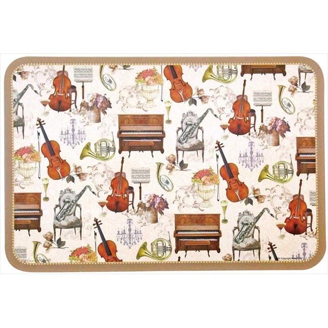 ジャストウィロー アンティーク風 アートランチョンマット(楽器柄) 8390014 音楽雑貨