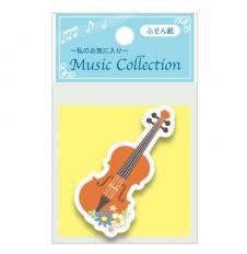 ♪音楽 花ふせん<ダイカット> バイオリン SJ-049-B
