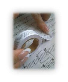 音楽雑貨 簡単五線テープ五楽線(ごらくせん) 12mm幅 赤パッケージ