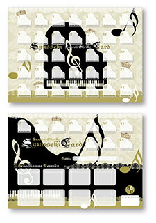 BBB★出席カード44レッスン10枚セット ゴシックピアノB TB-92185 レッスン用品
