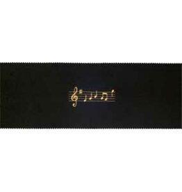 ピアノキーカバー 音符/ブラック CO-120K/OP/BL