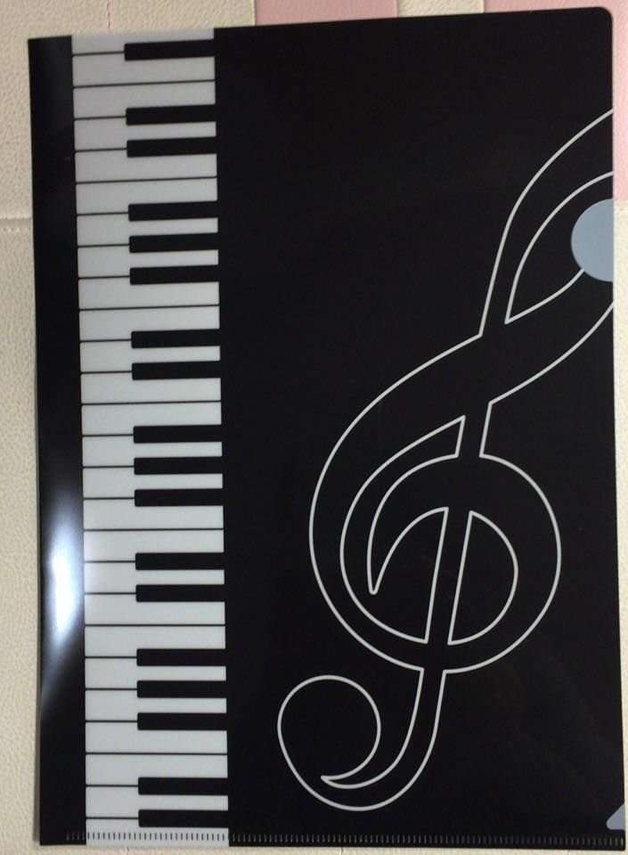 ★Piano line ピアノライン A4クリアファイル A4 ト音記号 0306601
