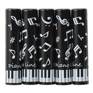 ★Piano line 鉛筆キャップ(音符) 5本入り 0310001 ピアノライン