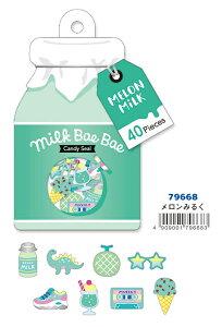 79668 Milk Bae Bae Candy Seal-ミルクべべステッカー メロンミルク マインドウエイブ