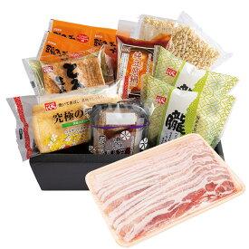 【大創業祭|送料無料・30%OFF】純豆腐豚肉セットスンドゥブ|朧|愛知県産豚肉|厚揚げ|湯葉|油揚げ|国内産大豆100%|春のご挨拶|贈り物|母の日
