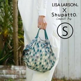 マーナ LISA LARSON×Shupatto コンパクトバッグ S S478 シュパット・エコバッグ・レジバッグ・北欧 リサラーソン しゅぱっと 軽量 折り畳み マチ広 コンビニ 弁当 マイバッグ レジ 袋