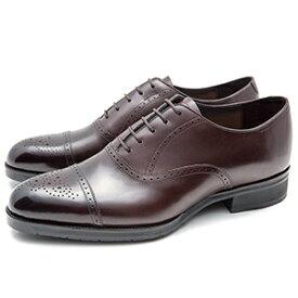皇室御用達 大塚製靴/OTSUKA Yokohama made(オーツカ ヨコハマ)OT-1001 内羽根セミブローグ ブラック・ダークブラウン紳士靴・革靴(メンズ/フォーマル/ビジネス/ドレスシューズ)