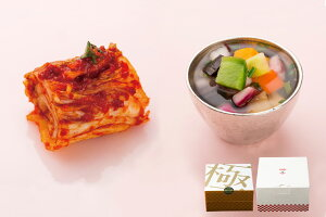 夏のギフト/王道白菜キムチ&神奈川カラフル野菜の水キムチセット(各300g)