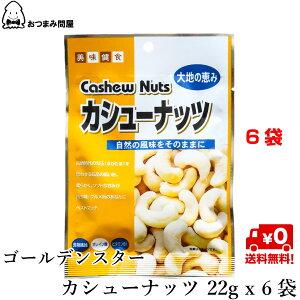 送料無料 ナッツ カシューナッツ 塩味 GSカシューナッツ 22g x 6袋 常温保存