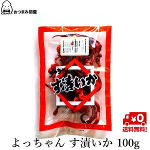 送料無料 おつまみ 珍味 駄菓子珍味 よっちゃん す漬いか 酢いか 酢イカ 100g x 1袋 常温保存