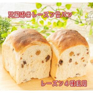 レーズン食パン1斤 北海道小麦 国産小麦 無添加 ホシノ酵母 天然酵母 天然酵母食パン レーズン4種 食事パン もちもち しっとり 冷凍 ギフト 贈り物
