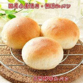 丸ぱん3個 北海道小麦 国産小麦 無添加 ホシノ酵母 天然酵母 食事パン もちもち しっとり 冷凍 ギフト 贈り物