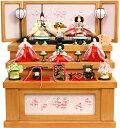 【雛人形 送料無料】吉徳大光「花ひいな」五人収納式三段飾り《306-394》