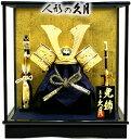 【五月人形 送料無料】久月作 「長鍬形 御兜」ケース飾り《K957-2》