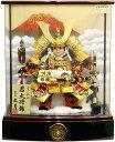【五月人形 送料無料】久月作 家紋「子供大将」 武者人形アクリルケース飾り 《T53107》