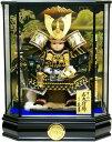 【五月人形 送料無料】久月作 家紋「子供大将」 武者人形ケース飾り 《T53707》